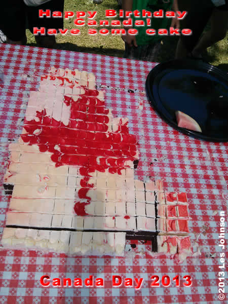 Canada Day Cake 2013