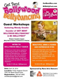 Bollywood Bellydancing Workshops @ Trinity Anglican Church | Grand Forks | British Columbia | Canada