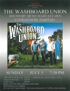 Washboard Union Plays at Boundary Museum @ fructova | Grand Forks | British Columbia | Canada