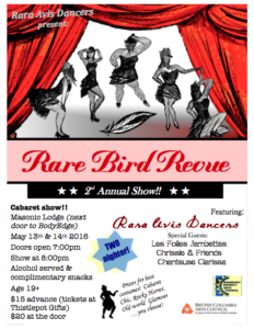 The Rare Bird Revue @ Masonic Lodge | Grand Forks | British Columbia | Canada